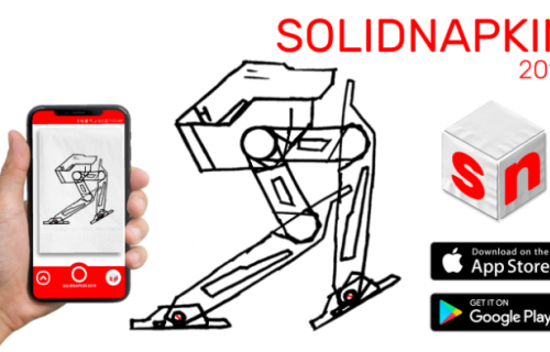 SolidWorks lance l'app SolidNapkin sur iPhone et Android.