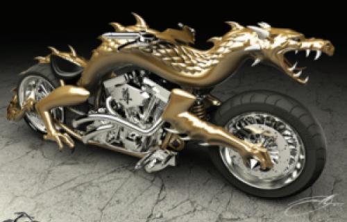 Une vraie moto en forme de dragon réalisée grâce à une imprimante 3D