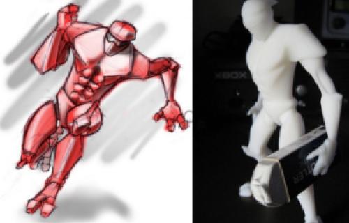 Des étudiants créent des figurines articulées avec l'imprimante 3D Dimension