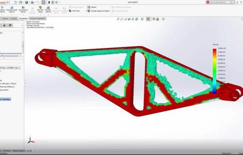 Vidéo du logiciel SolidWorks Simulation - Etude topologique