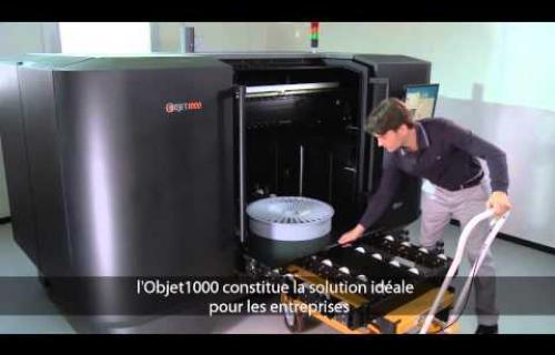 Vidéo de l'imprimante 3D Objet1000 Plus