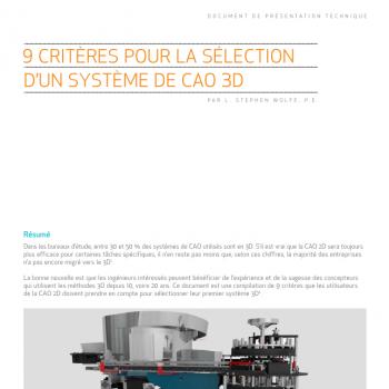 9 choses à savoir pour bien choisir son logiciel de CAO 3D