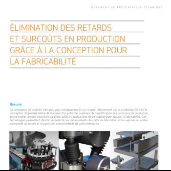 Assurer la fabricabilité lors de la conception en CAO