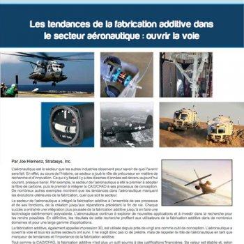 Les tendances de la fabrication additive pour l'aéronautique