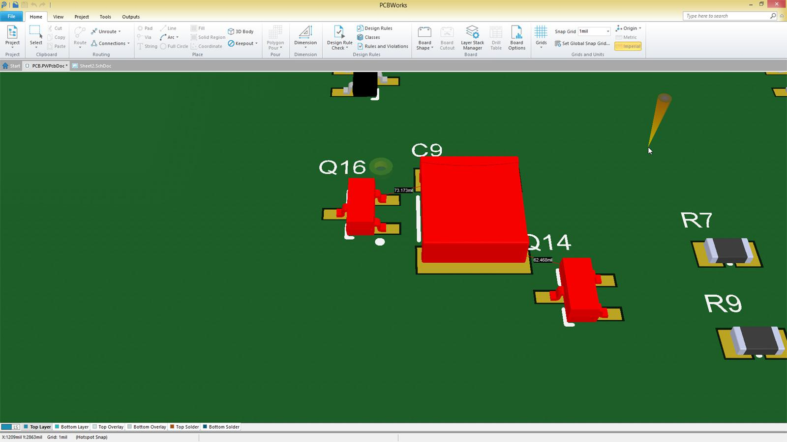 pcbworks logiciel ecad pour pcb optimis pour solidworks. Black Bedroom Furniture Sets. Home Design Ideas