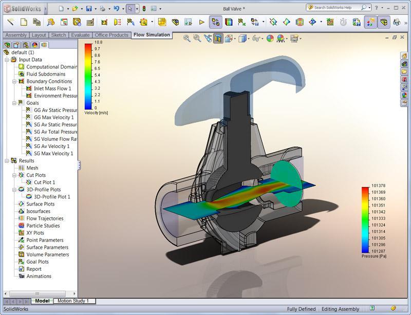 logiciel de tests cao solidworks simulation cadvision. Black Bedroom Furniture Sets. Home Design Ideas